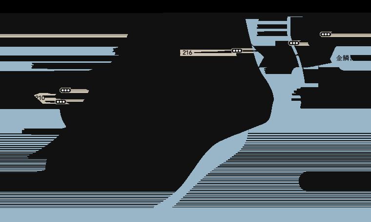 草庵秋桜と由布院ICなどが入った地図